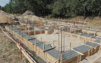 Rydułtowy – wykonanie ław fundamentowych